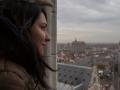 Нина на башне Белфрай в Генте
