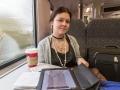 Нарма в поезде по дороге в Брюссель